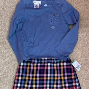 sz 4 TOUGHSKIN 2pc outfit mix  match skirt & shirt